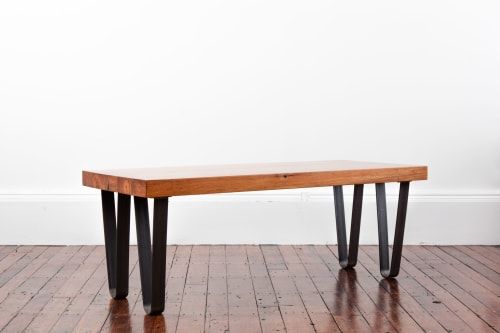 Tables by Christian Thomas Designs seen at Private Residence, Providence, Providence - HAIRPIN TABLE
