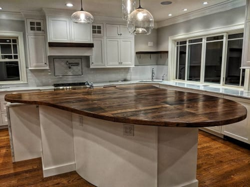 Tables by Ney Custom Tables seen at Private Residence, Lexington - Custom Kitchen Island