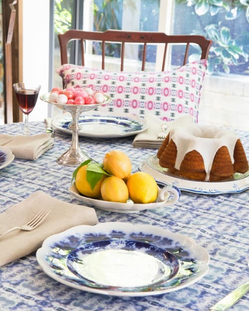 Linens & Bedding by Philomela Textiles & Wallpaper seen at Private Residence, Sea Ranch - Fabric Tablecloth