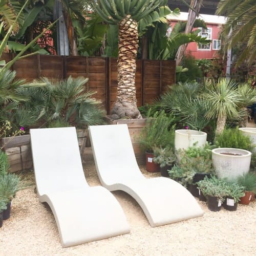 Benches & Ottomans by Concreteworks seen at Flora Grubb Gardens, San Francisco - Jenner Lounges