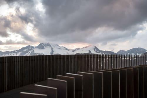 Architecture by noa* network of architecture seen at Schnalstaler Gletscherbahnen, Kurzras - Ötzi Peak 3251m: Reaching the peak