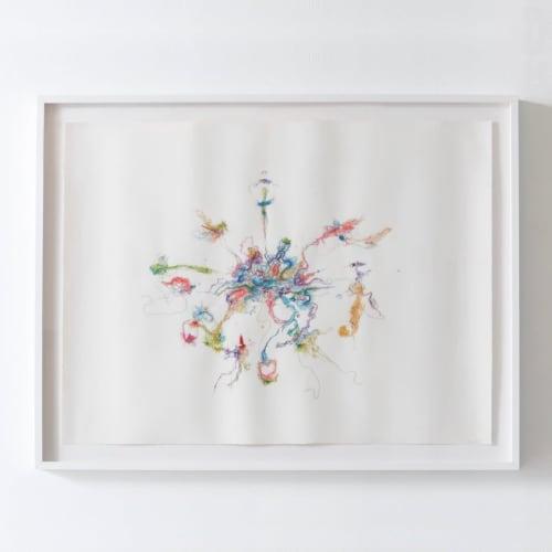 """Magnet of Hope"" Fiber Painting | Paintings by Emma Balder"