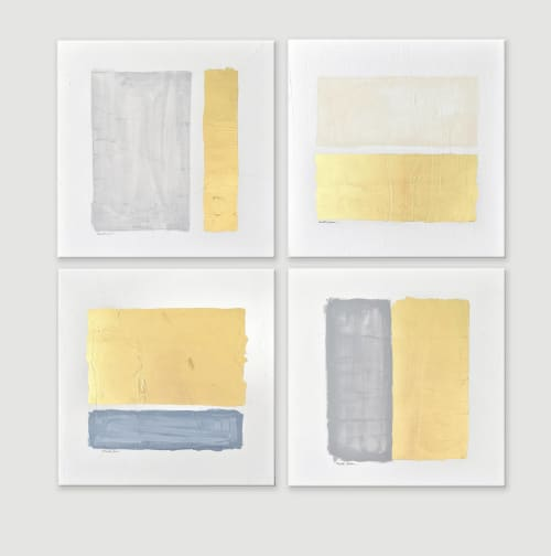 Paintings by Nicolette Atelier - Gilded Bars - Quadriptych