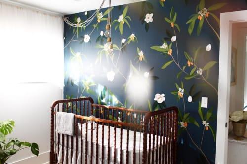 Murals by Jenna Alexander Studio seen at Private Residence, St. Augustine - Kumquat + Magnolia Wall