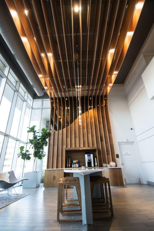 Furniture by Garrett Brown Designs seen at EVIVA On Cherokee Apartments, Denver - Eviva Lobby