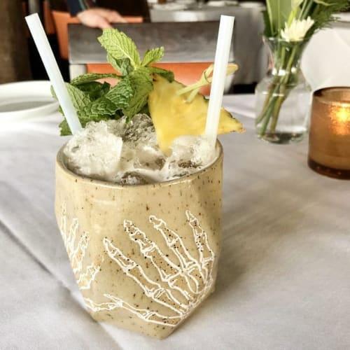 Cups by Edie Frylings seen at Restaurant Olivia, Denver - Hand Bone Ceramic Cup