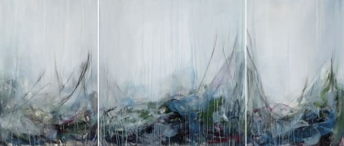 Paintings by Lisa Ochowycz seen at Private Residence, Vancouver - Hawks Series 126