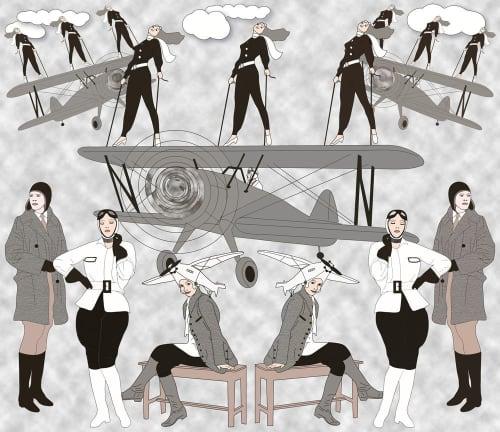Wallpaper by ART DECOR DESIGNS seen at London, London - Art Deco Pilots
