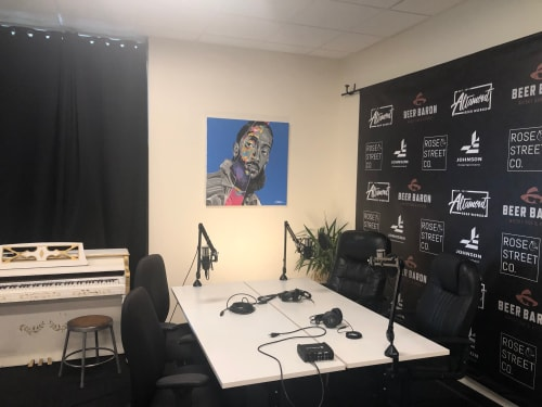 Paintings by Trent Thompson seen at Giraffe Space, Livermore - Nipsey Hustle
