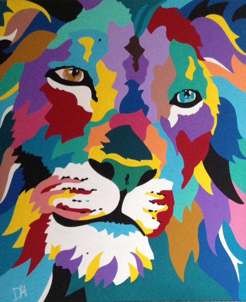 Paintings by DAI art - David Aiazzi seen at Mac Tabby Cat Cafe, Charlotte - Ego Sum Vobis