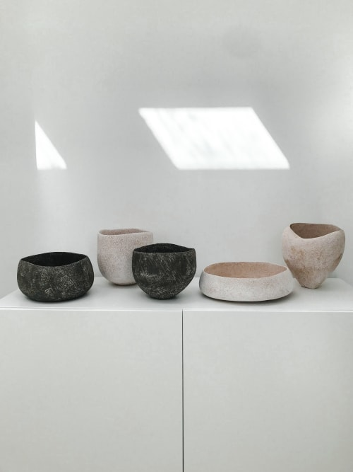 Sculptures by Yasha Butler seen at Private Residence, Ibiza - Pergamon & Caria Vessels  - The Lithic Collection