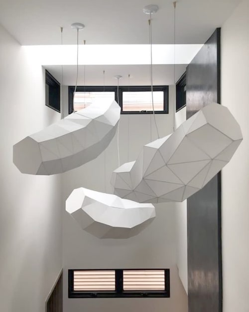 Sculptures by Steven Haulenbeek Studio seen at Private Residence, Chicago - Webcoat pendant