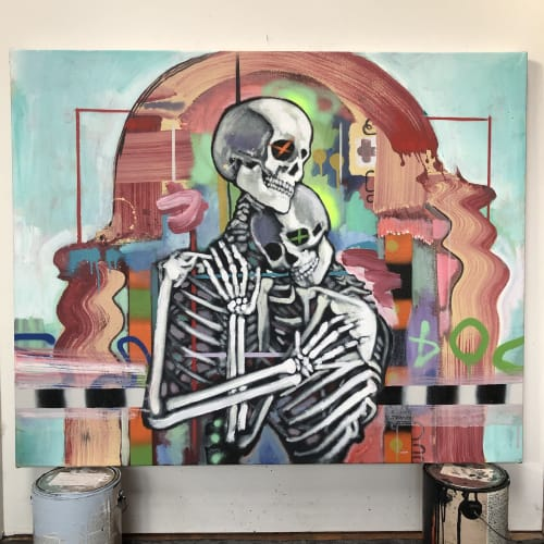 Paintings by Andres García-Peña Art seen at Private Residence, New York - Forever yours