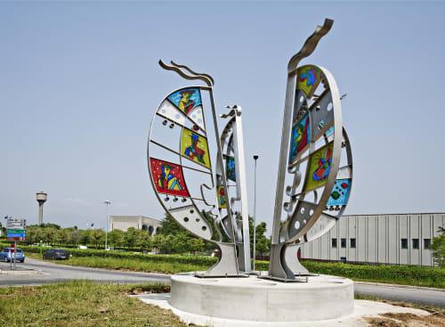 Public Sculptures by Silvio Vigliaturo seen at Pianezza, Pianezza - pomegranate
