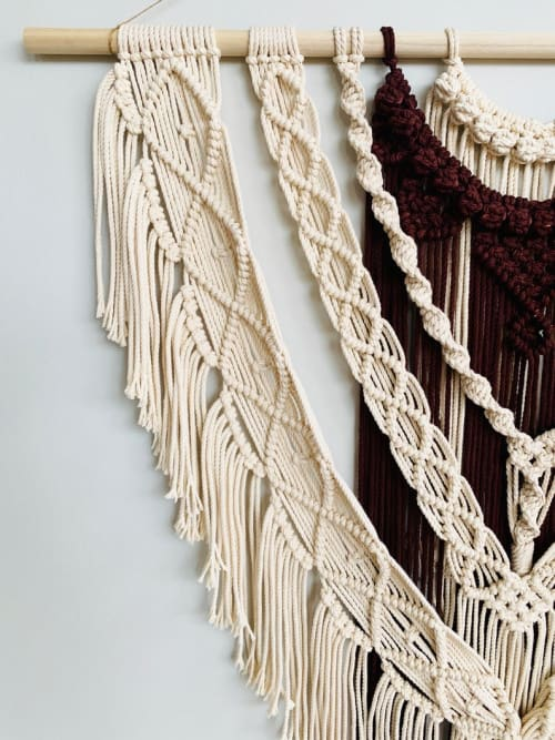 Macrame Wall Hanging by Love & Fiber seen at San Diego, San Diego - Extra Large Bohemian Layered Macrame Wall Hanging
