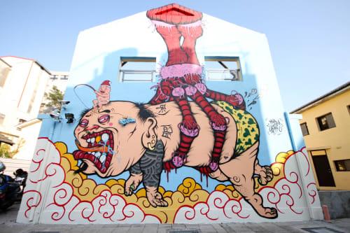 Street Murals by Mr.OGAY seen at Blueprint Culture & Creative Park - MONSTER