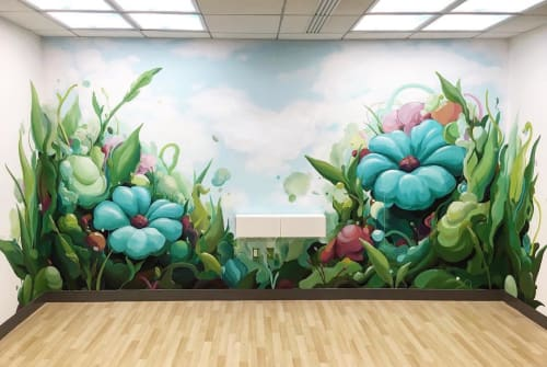 Murals by WINGCHOW seen at Inter-American Development Bank, Washington - Inter-American Development Bank