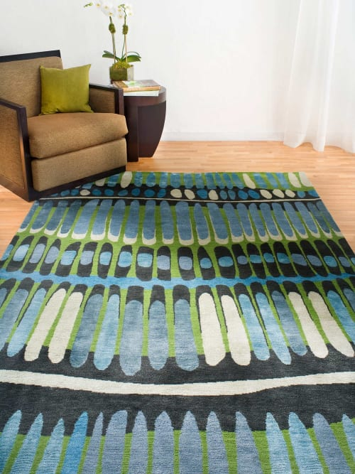 Rugs by Emma Gardner Design, LLC seen at Private Residence - FIRE ISLAND (custom)