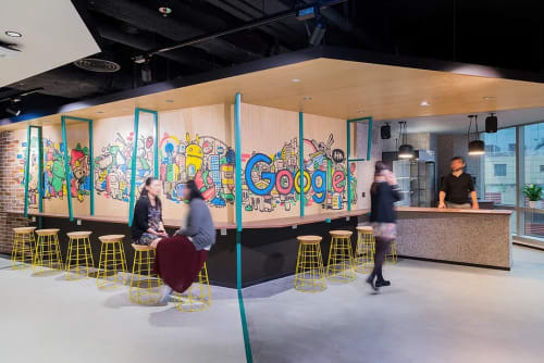 Murals by Bao seen at Google Hong Kong - Google Mural