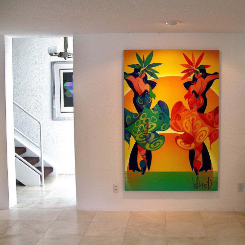 Paintings by Sid Daniels seen at Private Residence, Miami - Tango Twins