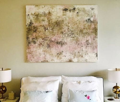 Paintings by Ariel Gold seen at Private Residence, Miami Beach - Fireflies & Rosy Cheeks