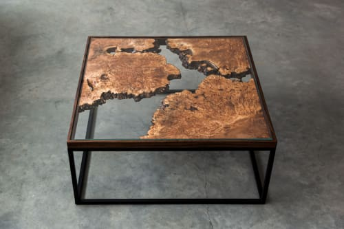 Tables by SAW Live Edge seen at Private Residence, Kimberley - Maple Burl Live Edge Coffee Table | The Divide Series |