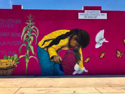 Street Murals by La Morena's Art seen at Indoor Comfort Inc., Phoenix - Mural