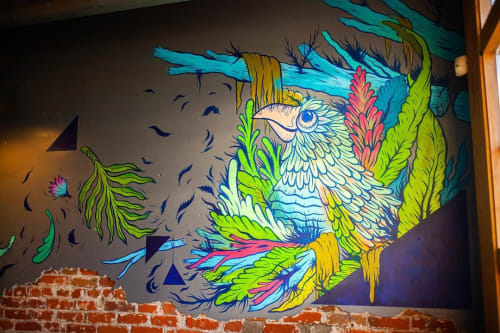 Murals by John Hastings (RUMTUM CREATIONS) seen at Crema Coffee House, Denver - Indoor Mural