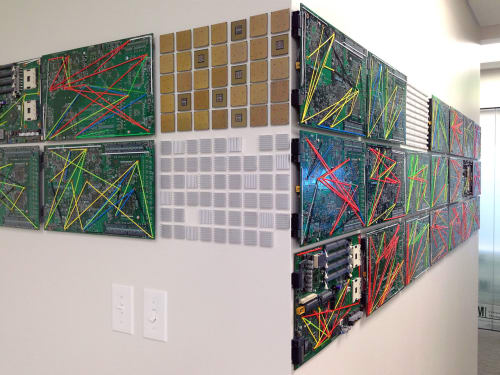 Art & Wall Decor by Patricia Van Dalen seen at University of Miami Center for Computational Science, Coral Gables, FL, Coral Gables - Data Hall