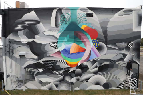 Street Murals by Nathan Brown seen at Tullahoma, Tullahoma - Landscape of the Heart