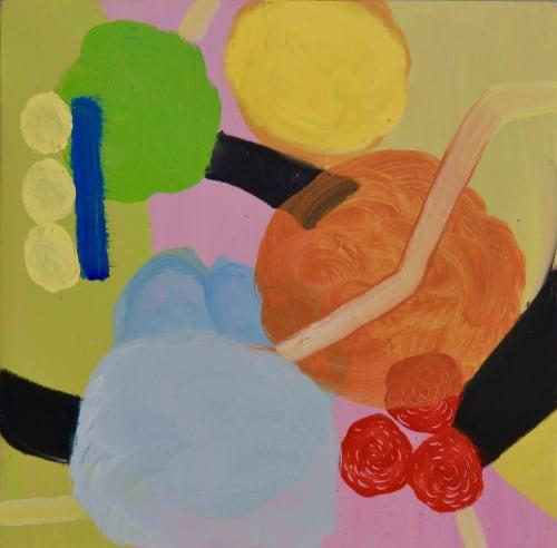 Paintings by Ellen Dieter seen at Private Residence, Honolulu - Lollipop Series