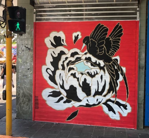 Murals by Creature Creature seen at 136 Victoria St, Richmond - Good luck charms