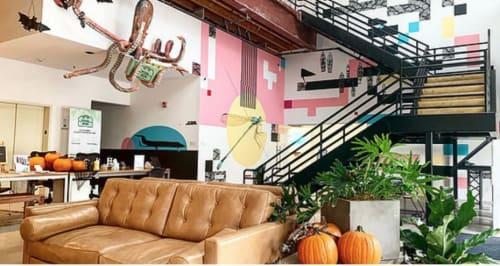 Murals by Miles Lewis Murals seen at Toolbox LA, Los Angeles - Flight - Mural at Toolbox LA