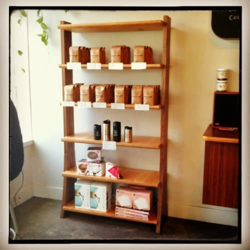 Furniture by Steve Lawler seen at Bluebeard Coffee Roasters, Tacoma - Custom Shelf