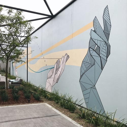 Murals by Allison Kunath seen at 555 aviation, El Segundo - Share