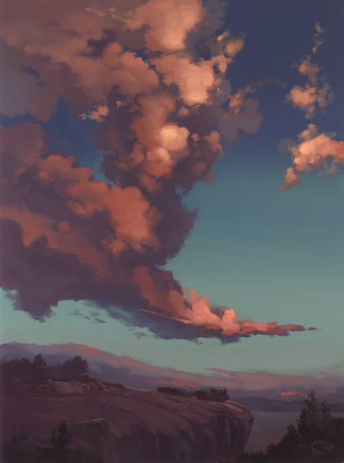 Paintings by +David McCamant seen at Private Residence, Oro Valley - Windswept Clouds