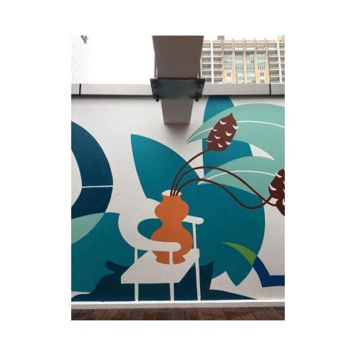 Murals by Studio Dennis seen at WeWork, Sydney - Mural (Plants)