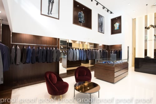 Interior Design by KBF interiors seen at Maison du Tailleur, Tunis - Luxury Store, Tunis