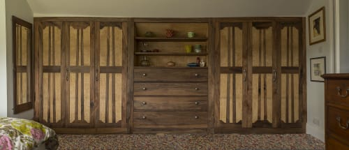 Furniture by Auspicious furniture seen at Private Residence - Walnut Wardrobe