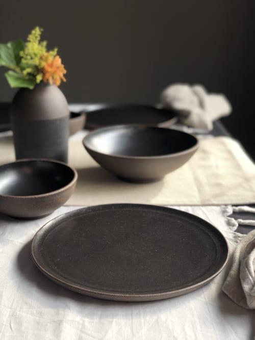Tableware by Stephanie McGeorge seen at Creator's Studio - Black Stoneware Dinner Plates
