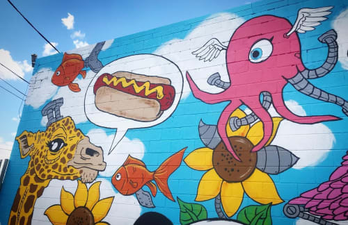 Murals by Andrea Jablonski seen at East Garfield Park, Chicago - Future Friends