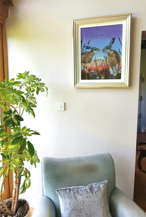 Paintings by Carolina Arbuthnot seen at The Courtyard Fine Art Lounge, Lichfield - First kiss