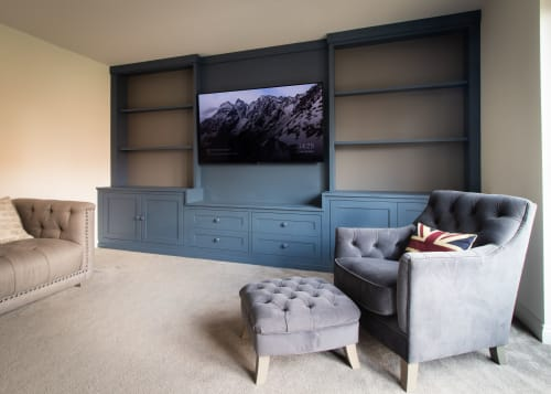 Furniture by Davies and Foster seen at Private Residence, Chester - Chester West, Chester, Bespoke Feature Wall Cabinet
