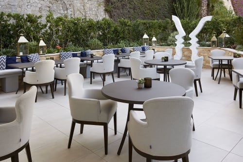 Chairs by Coco Wolf seen at 39 Av. Princesse Grace, Monaco - Thirty Nine Montecarlo - A private sports club