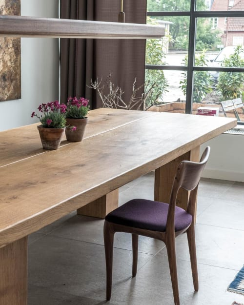 Tables by Ask Emil Skovgaard seen at Private Residence, Copenhagen - Wooden Dining Table
