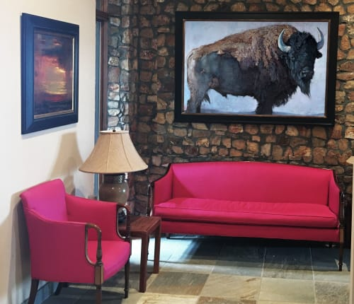 Paintings by Jill Soukup seen at Private Residence, Denver - Bison Painting