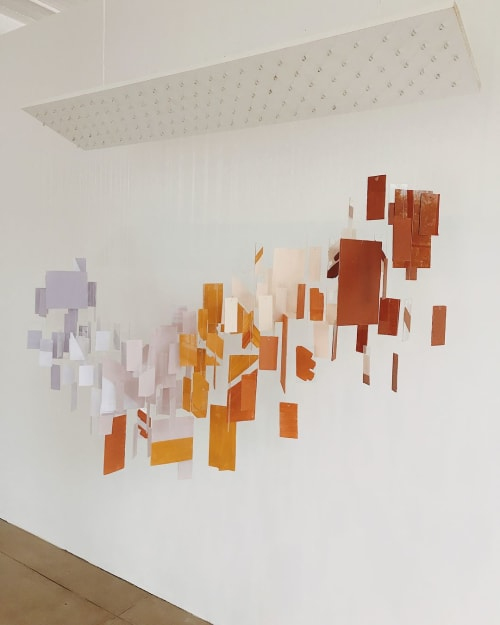 Sculptures by Tiffany Lusteg (Kindred + Copper) seen at Hudson Loft, Los Angeles - Acrylic Tile Sculpture