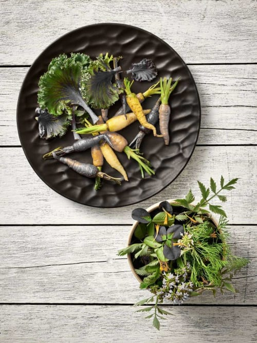 Ceramic Plates by Mieke Cuppen seen at Playground Showroom, Selb - CARVED tableware - Dinner plate