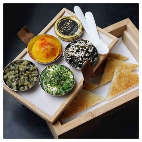 Tableware by Galpón seen at Hawksworth Restaurant, Vancouver - Hawksworth  Restaurant Display Boxes