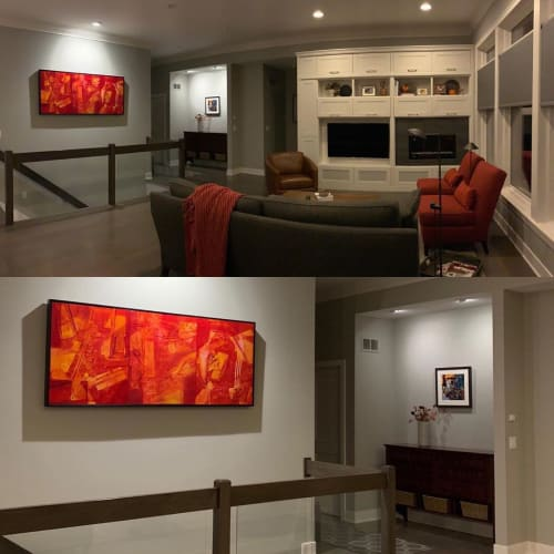 Paintings by Rita Dungey seen at Northrup King Building, Minneapolis - Abstract Painting